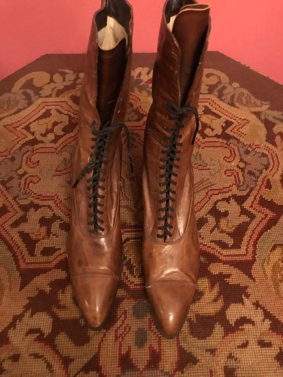 Antique Victorian Ladies Leather Boots