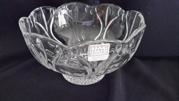 Fifth Avenue Crystal 325 Tall Bowl From Poland That Is Etsy