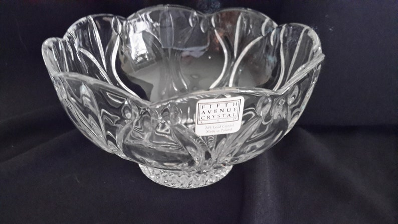 Fifth Avenue Crystal 3.25 tall bowl from Poland that is 6 wide Bowl 99
