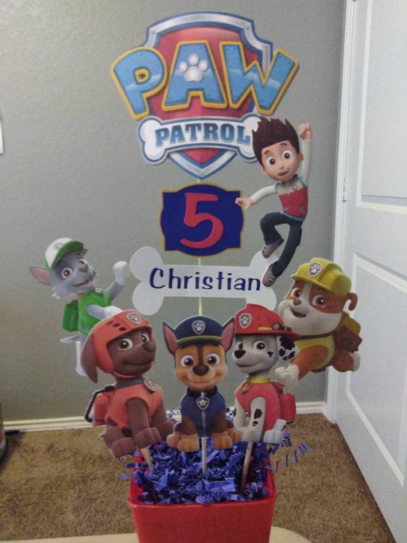 Paw Patrol Centerpiece Picks