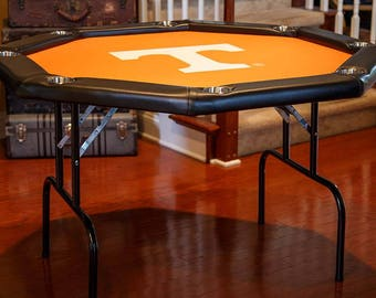 Octagon Game Table With Folding Legs | Collegiate Logo Game Table Felt