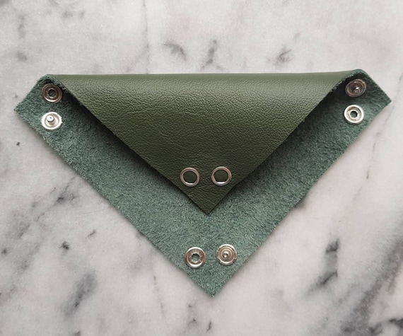 Seaweed Green Leather Tabletop Token Tray