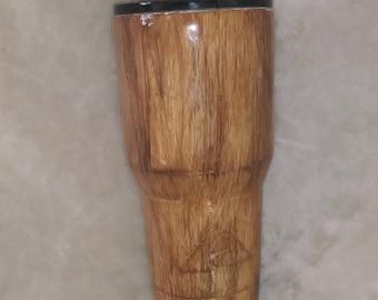Wood grain 30 0z. Tumbler