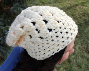 Alexa Slouch Hat | Slouchy Beanie Crochet Pattern | Crochet Slouchy Hat Pattern | Slouchy Crochet Hat Pattern - Adult Sizes | PDF Pattern