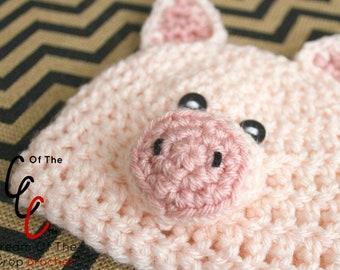 Crochet pig hat pattern  6b0903e595c