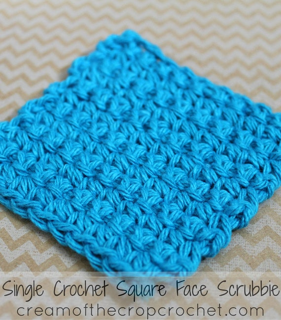 Single Crochet Square Face Scrubbie Face Scrubbie Crochet Etsy