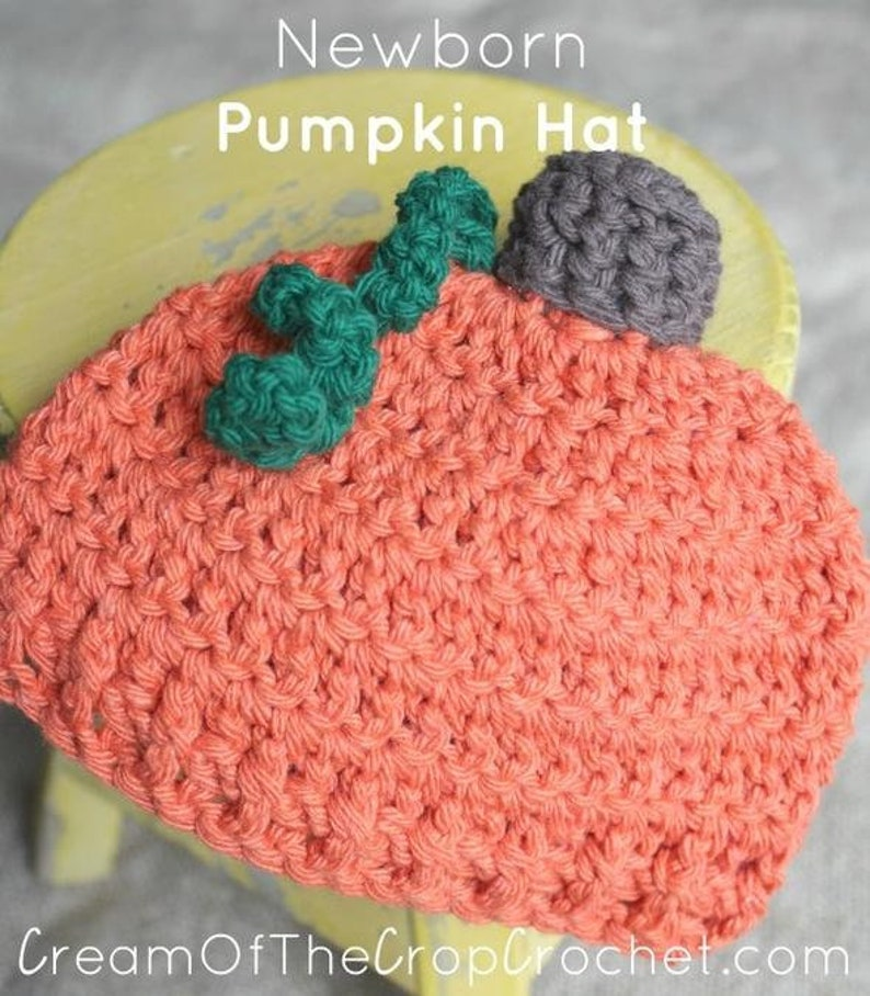 Newborn Pumpkin Hat Crochet Pumpkin Hat Pattern Baby Etsy