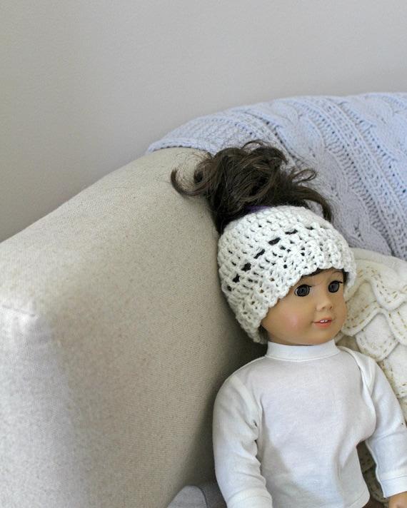 18 Inch Doll Madison Messy Bun Doll Messy Bun Hat Crochet Etsy