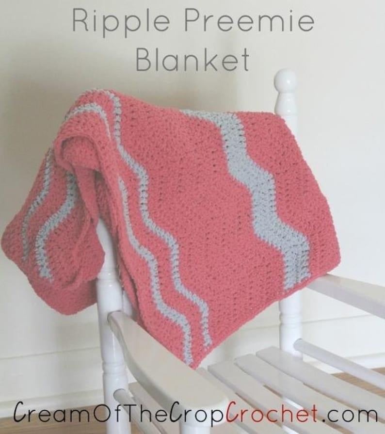 Bayley Preemie Blanket Baby Blanket Crochet Pattern Etsy