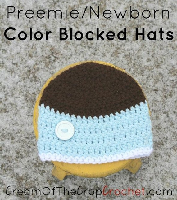 Preemie Newborn Liam Hat Crochet Liam Hat Pattern Baby Etsy