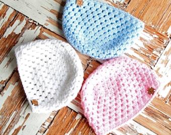 Cluster Newborn Hat | Crochet Hat Pattern | Newborn Hat Crochet Pattern | Crochet Baby Cluster Hat Pattern | Crochet Pattern | PDF Pattern