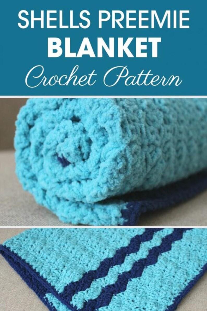 Shells Preemie Blanket Baby Blanket Pattern Crochet Baby Etsy