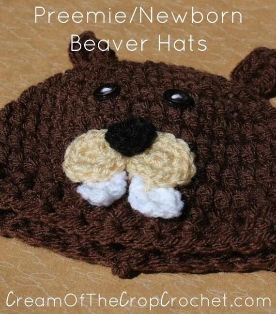 Preemie Newborn Beaver Hat Crochet Beaver Hat Pattern Baby  fbc9d1cd961