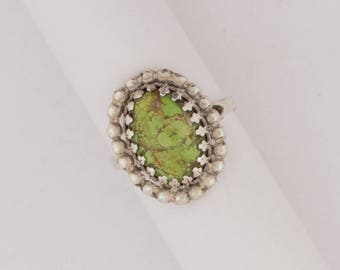Emory Silver Studio *Gaspeite Ring Handcrafted*