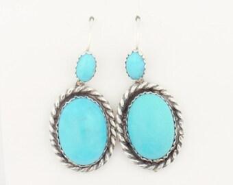 Emory Silver Studio *Sleeping Beauty Turquoise Sterling Silver .925 Earrings*