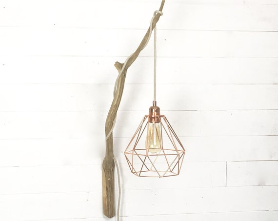 Wooden wall hanging light