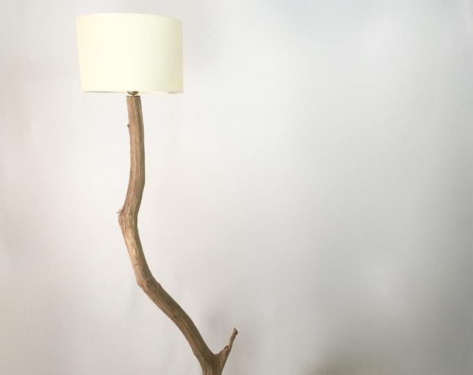 Old branch floor lamp