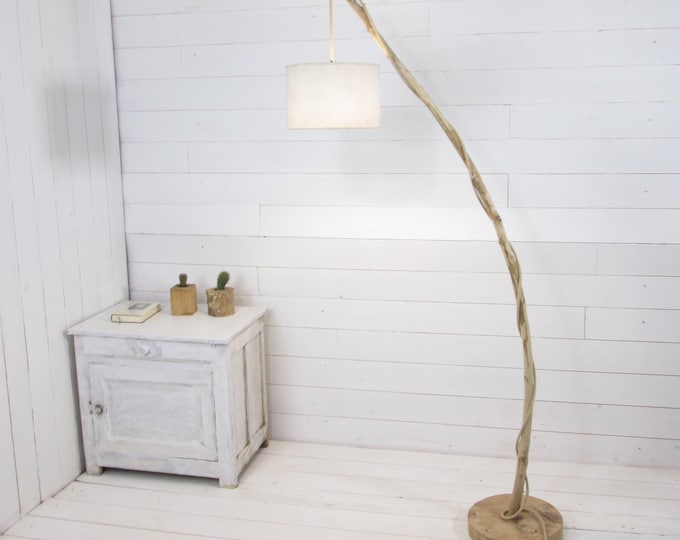 Natural design floor lamp with a nice branch
