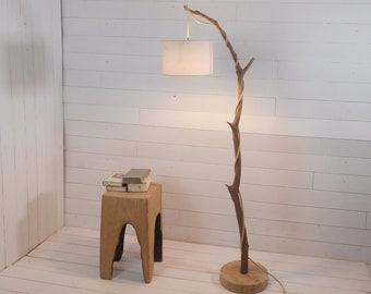 Branch lamppost with hanging light