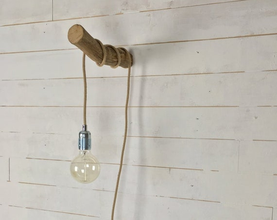 wooden wall hook for hanging light