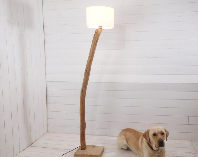Branch floor lamp with a nice old sweet chestnut branch