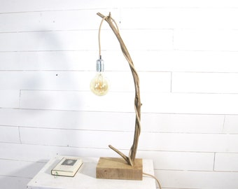 Table lamp with a nice branch