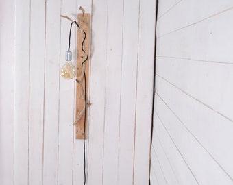 Long wall lighting driftwood