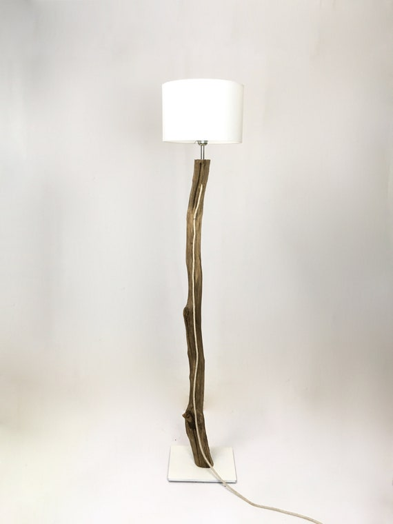 Unique branch floor lamp with lamp shade