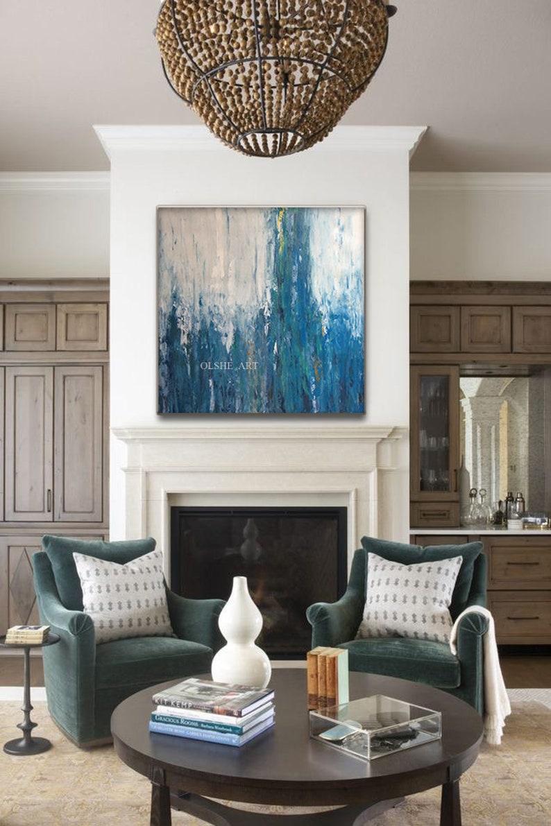 Art on canvas Oil Painting Acrylic painting Original art Wall decor Living room painting OLSHEart Interior design Interior art Handmade Sea