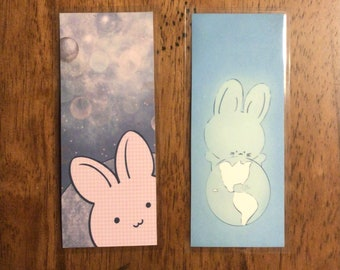 Space bunny bookmark--choice of 1--bookmark--rabbit--space