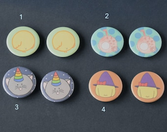 Set of 2 circle magnets -- magnets