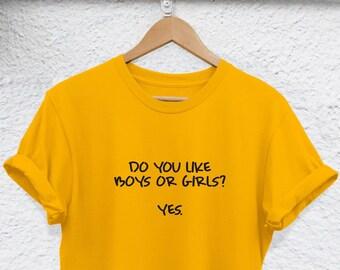 66645092 i like girls and boys shirt Bisexual t-shirt Bisexual shirt Bisexuality  Bisexual Merchandise Pride Bi Sexual Bisexual lgbt gay shirt