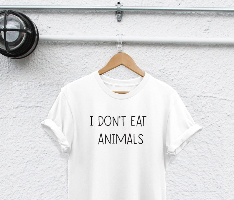 bdfcb16e6 I DONT EAT ANIMALS shirt vegan shirt Vegan T Shirt Avocado | Etsy