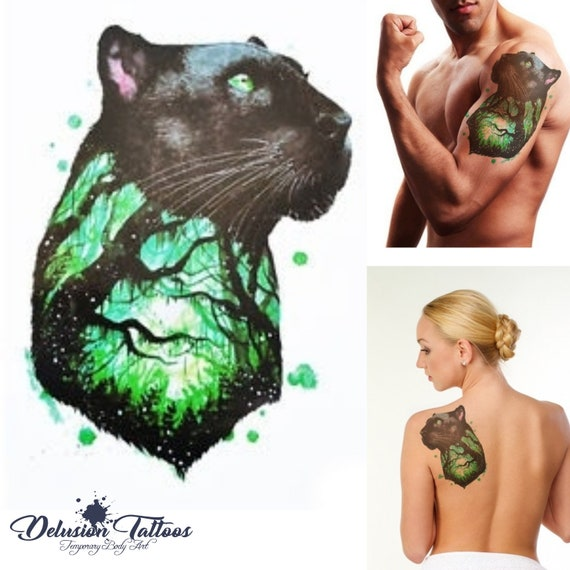 Black Panther Temporary Tattoo Sheets Goody Bag Fillers Birthday Party Favors