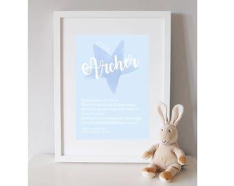 Baby Boy personalised print
