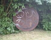 Full-size wooden halfling hobbit door to your specifications 1.5 m to 2 m diameter with 4 mm thick steel hinge