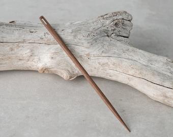 Walnut Tapestry Needle, Wood Needle, Weaving Tool, Weaving Needle