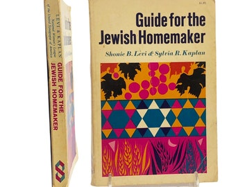 """Vintage 1964 """"Guide For The Jewish Homemaker"""" By Levi & Kaplan Jewish Reference Books Collectible National Womens League Judaica Book Lovers"""