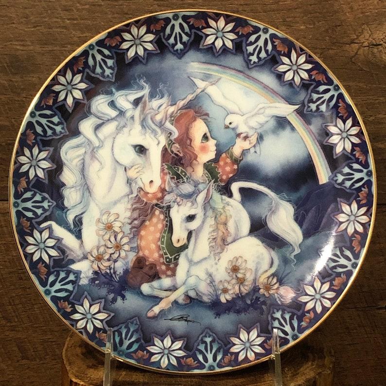 Mythical Creatures Porcelain Wall Plates Unicorn Decorative Etsy