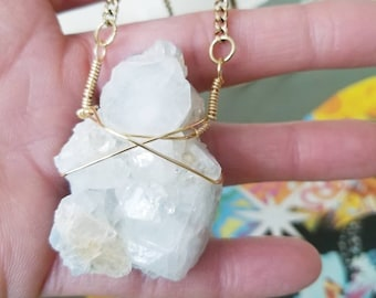 f714ba153 APOPHYLLITE necklace | Raw crystal necklace | Crystal necklace | Unique  gift | Boho necklace | Free people necklace | hipster jewelry | yoga