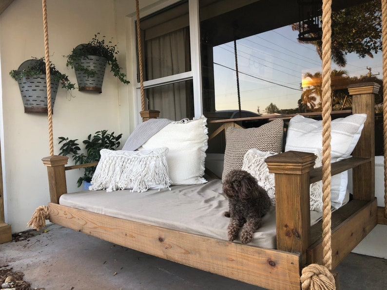 Rustic Porch Bed Swing