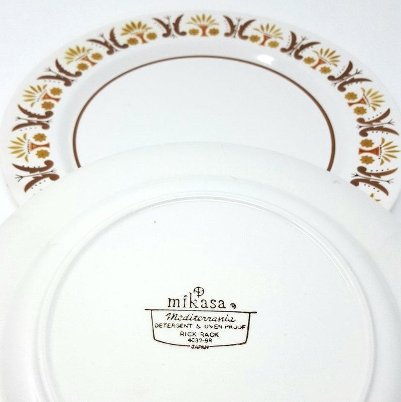 vintage retro mikasa dinner plate mediterrania rick rack 4037 3 available