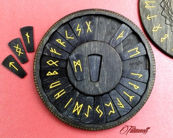 paganism wicca wiccan asatru Yggdrasil wooden keychain elder futhark