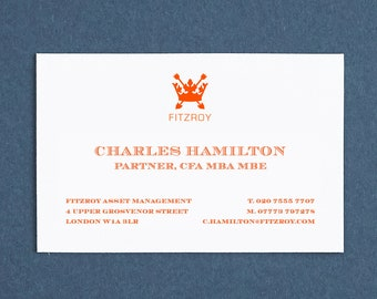 Printed Name Cards Custom Made Business Cards Personalised Etsy