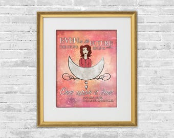 Scarlet Print | The Lunar Chronicles Quote | Lunar Chronicles Art Print | The Lunar Chronicles Wall Art | Bookish Poster