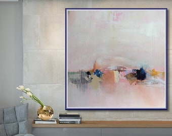 Abstract Painting, Large Original Modern Painting, Large Canvas Art, Large  Wall Art Painting, Home, Office Decor Art, Pink Grey Etc