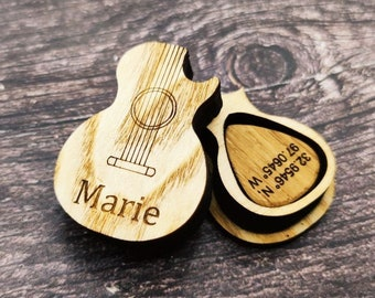 Personalized Custom Monogram Men/'s Wood Jewelry or Keepsake Box for Music Lover Guitar Player Gift for Him Dad Grandfather