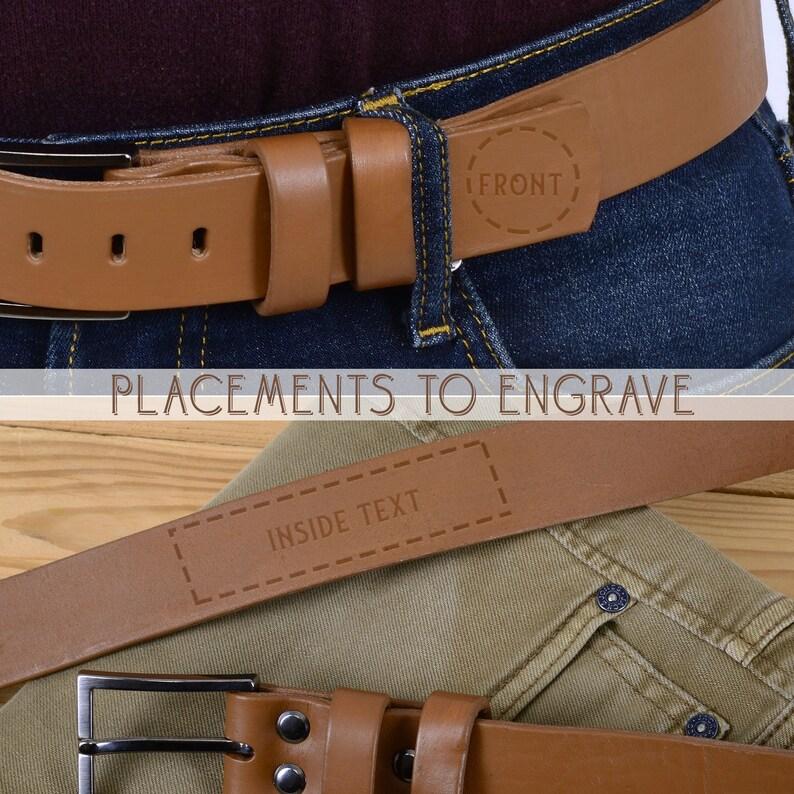 Personalized Belt For Men in Tan Personalized Secret Message Belt for Men  Men/'s Engraved Italian Leather Belt  Custom Men/'s Belt