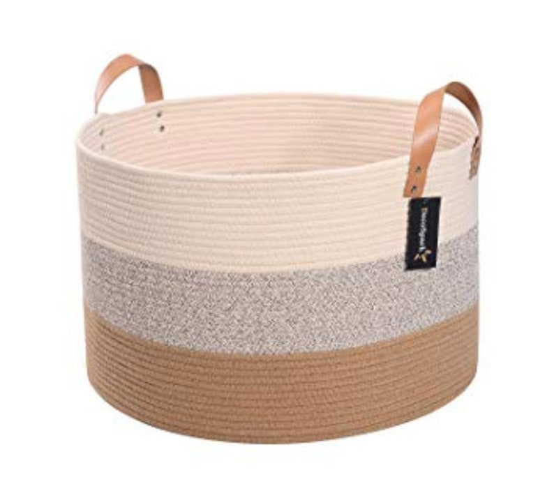 Extra Large Storage Basket XXXL Cotton Rope Basket 21.7 image 0
