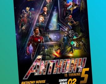 Avengers Infinity War Invitation, Avengers Invitation, Avengers Infinity War, Avengers Invite, Infinity War Invitation, Superhero Invitation